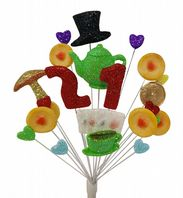 Tea party 21st birthday cake topper decoration - free postage